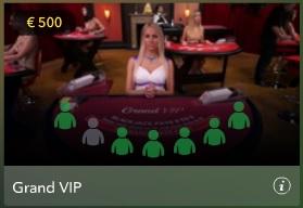 Aan de live VIP tafels wordt gespeeld met hoge inzetten