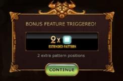 Aan het begin van een level kan de bonusfunctie worden geactiveerd