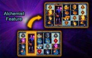 Alchemist Feature in The Alchemist's Gold videoslot