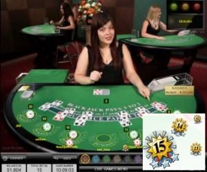 Bet Behind bij blackjack in het live casino