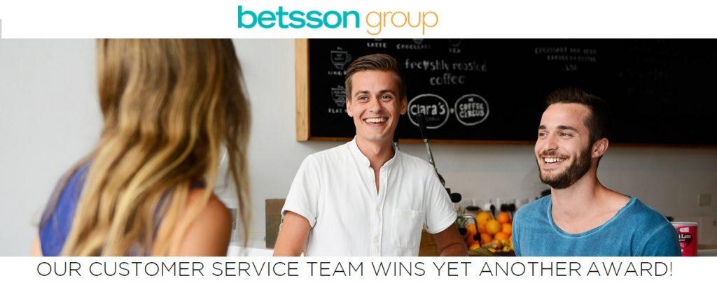 Betsson Klantenservice wint opnieuw een prijs