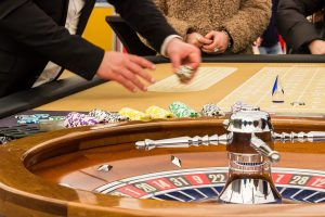 Croupier in een casino
