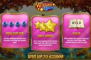 De speciale features in Wizard of Gems