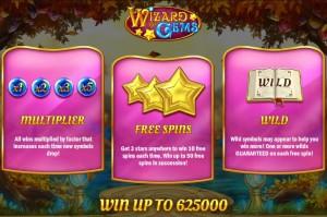 De speciale features in Wizard of Gems