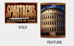 De symbolen Wild en Feature