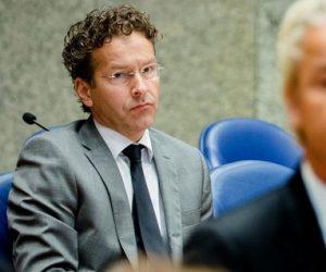 Dijsselbloem noemt Wilders opmerking een natte scheet