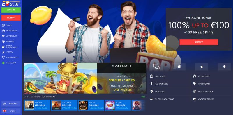 OnlineCasino.nl casino review EU Slot homepage screenshot april 2020