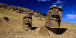 Moai standbeelden op Paaseiland