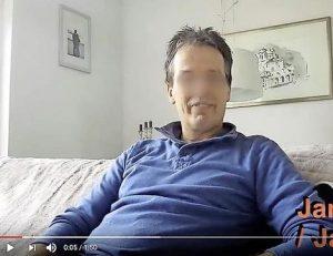 Een foto van pokerspeler Jan J uit zijn eigen filmpje
