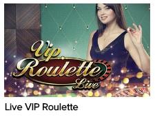 Een van de live VIP tafels is een VIP roulette tafel