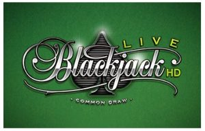 Een van de soorten live blackjack tafels van Oranje Casino is die van Common Draw