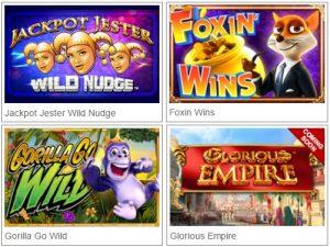 Een paar voorbeelden van spellen van NYX Gaming en NextGen Gaming