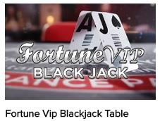 Fortune VIP Black Jack bij CasinoEuro