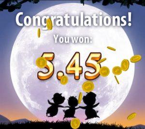Gefeliciteerd, je hebt gewonnen!