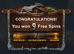Gefeliciteerd je hebt gratis spins gewonnen
