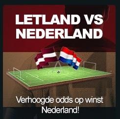 Gokken op Nederland vs. Letland met verhoogde kansen