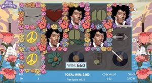 Gratis spins ronde uit Jimi Hendrix online slot