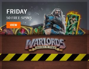 Gratis spins voor Warlords Crystals of Power in Call of Casino acties