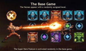 Het basisspel van nieuwe videoslot Super Heroes