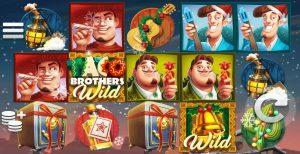 Het speelscherm van de Taco Brothers Saving Christmas videoslot