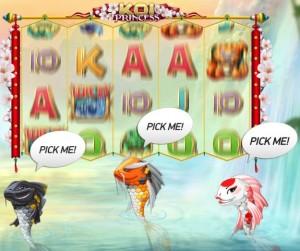 Kies een vis in nieuw spel Koi Princess