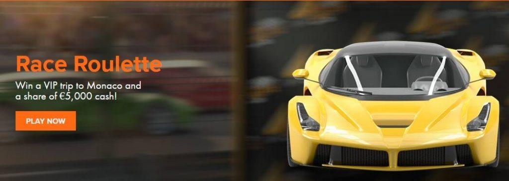 Laatste week Race Roulette actie bij Oranje Casino