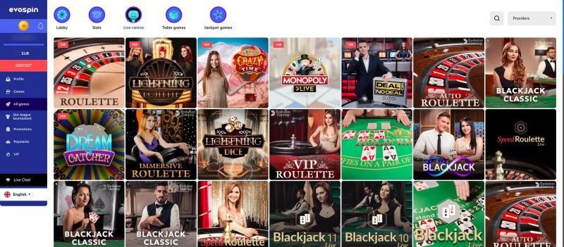 Onlinecasino.nl review Evospin live casino spellen aanbod