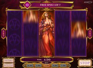 Lust was als eerste aan de beurt in de gratis spins ronde