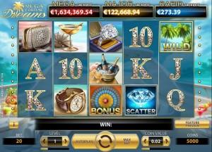 Mega Fortune Dreams gamereview - zo ziet het spel eruit