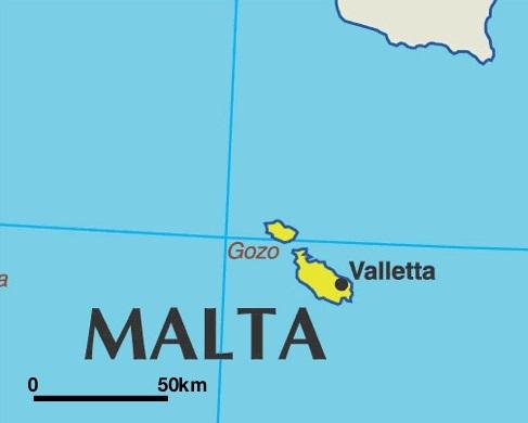 Om aan te geven hoe klein Malta is