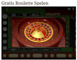 Online gratis roulette spelen kan ook