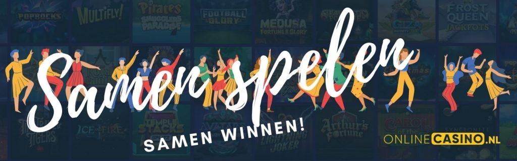 OnlineCasino.nl post over Pool Play, het samen spelen en inleggen om gezamenlijk te winnen