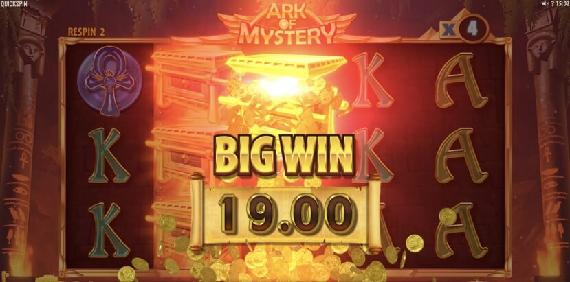 OnlineCasino.nl QuickSpin ark of mystery win