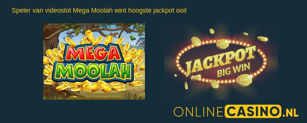 OnlineCasino.nl nieuw record jackpot Mega Moolah