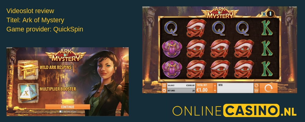 OnlineCasino.nl videoslot review Ark of Mystery QuickSpin