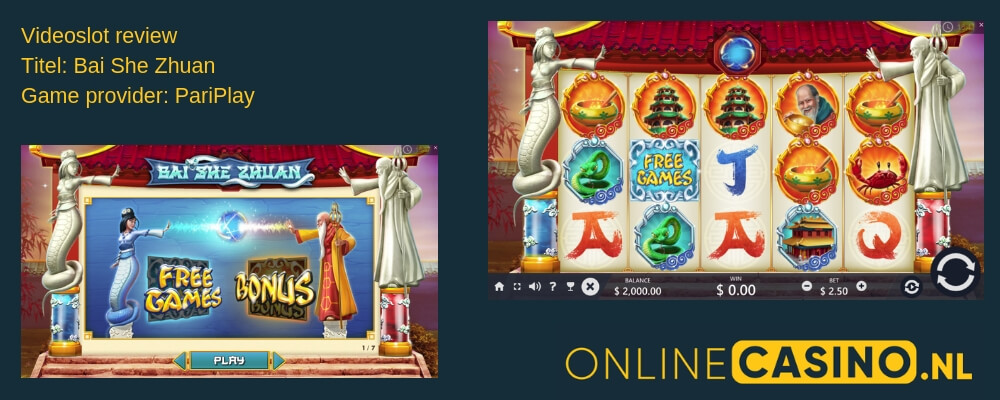 OnlineCasino.nl videoslot review Bai She Zhuan PariPlay