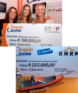 oranje casino donatie