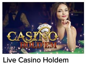 Probeer naast de live baccarat tafels ook een Live Casino Hold'em