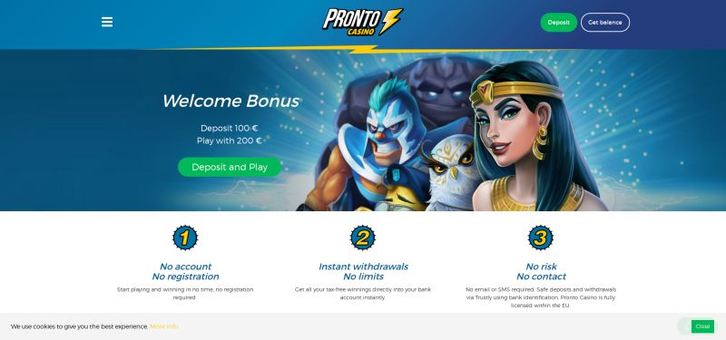 onlinecasion.nl pronto casino afbeelding homepage april 2020