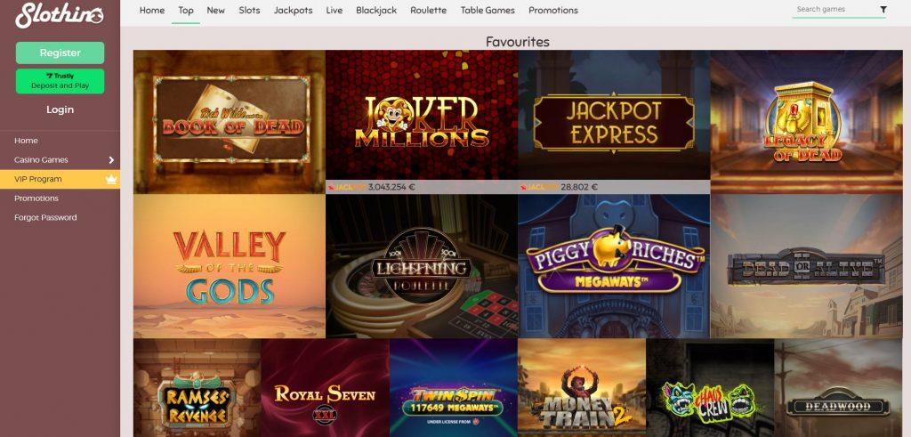 Slothino casino spellen