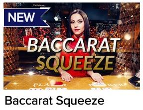 Speel Baccarat Squeeze aan de live baccarat tafels van CasinoEuro