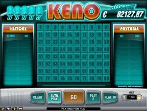 Speel online bingo of probeer keno en win een jackpot