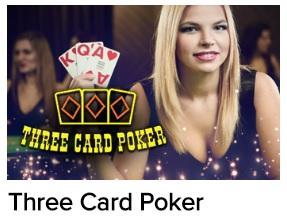 Three Card Poker is misschien ook een leuke variatie op de live baccarat tafels