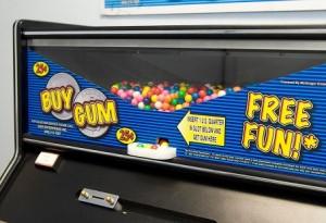 Wel of geen gokken, zo'n kauwgomballenmachine