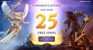 Win gratis spins in Archangels