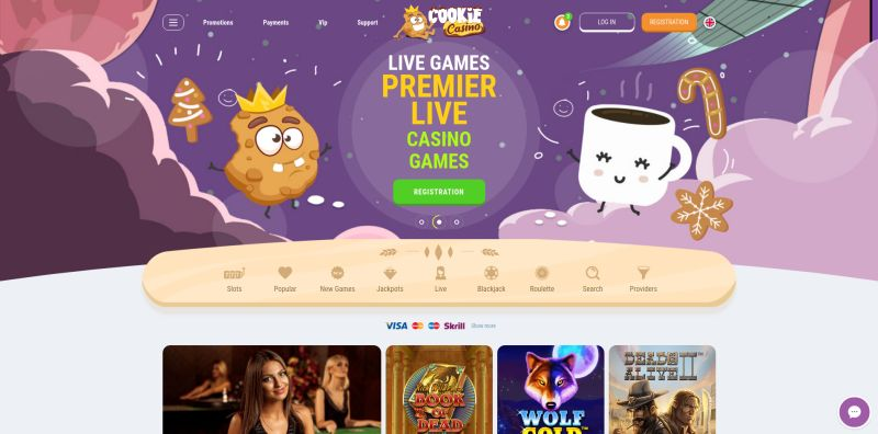 OnlineCasino.nl casino review Cookie Casino homepage screenshot april 2020