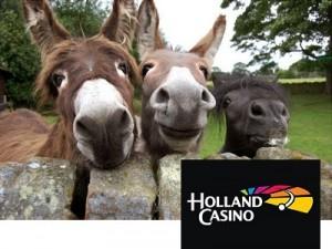 Ezels als onderdeel van actievoering bij Holland Casino