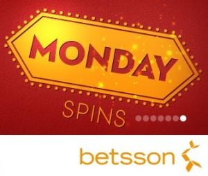 Gratis spins bij Betsson Casino op maandag