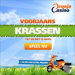 Kras en win prijzen met het Voorjaarskrassen bij Oranje Casino