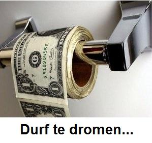 geld op toiletpapier